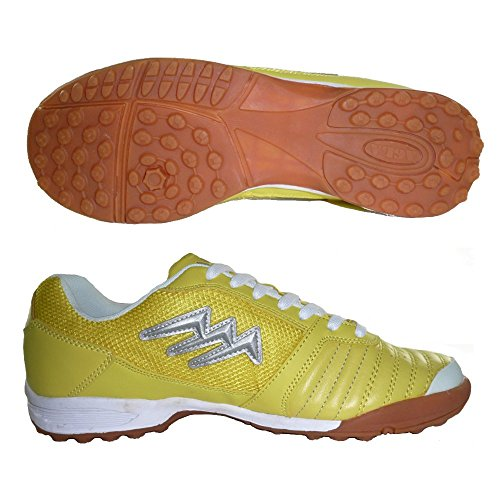 AGLA PROFESSIONAL KILLER OUTDOOR scarpe calcetto futsal con anti-shock (EU 41, YELLOW)