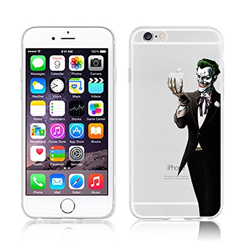 Disney-Cover, custodia morbida in TPU per Apple Iphone 6 Plus/6s & s 6/6, PLASTICA, JOKER .1, Apple iPhone 6/6S