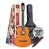 Ashton Guitare classique avec accessoires 3/4 Size Classical naturel