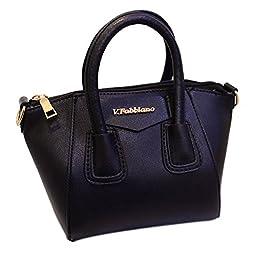 SHENGXILU Women\'s PU Leather Handbag Black