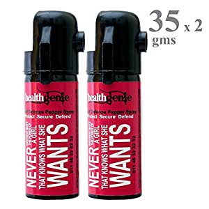 Healthgenie Pepper Spray, upto 10 feet range, 35 gms of Dispensable Pepper Spray (Pack of 2)