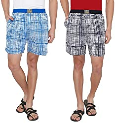 7thStreet Printed Men's Cotton Boxer Short (Pack of 2)