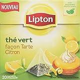 Lipton Thé vert façon tarte au citron 20 sachets - Lot de 5