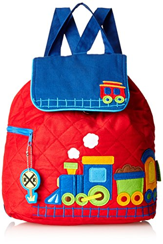 Stephen Joseph Little Boys' Quilted Backpack, Train, One Size