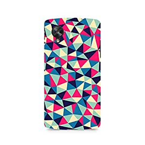 Ebby Colorful Triangles Premium Printed Case For LG Nexus 5