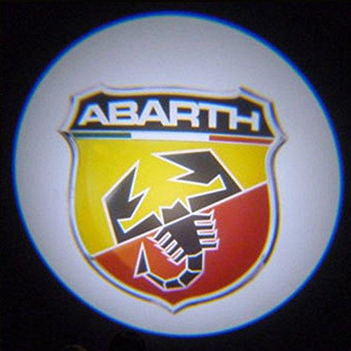 Madeforcar 2X Abarth Scorpion Pattern No Drill Led 6Th Gen Car Logo Ghost Laser Projector Door Step Light