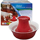PetSafe Drinkwell Stoneware Avalon Pet Fountain, Red