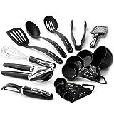 KitchenAid Cook's Series 17-Piece Starter Tool and Gadget Set, Black