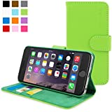 iPhone 6 Plus Case, Snugg® - Leather Wallet Case with Lifetime Guarantee (Green) for Apple iPhone 6 Plus