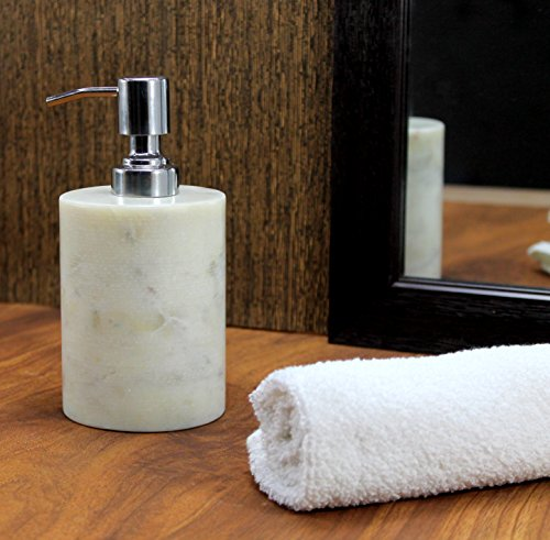 Kleo Soap Lotion Dispenser Made Of Genuine Indian Marble In White