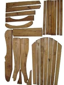 adirondack bausatz f r stuhl. Black Bedroom Furniture Sets. Home Design Ideas