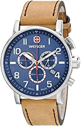 Wenger 011243101 - Men's Watch, Leather, Brown Tone