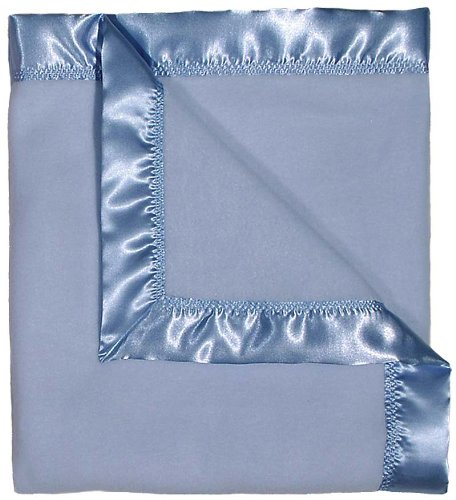 Raindrops Fleece Receiving Blanket, Blue