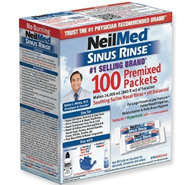 NeilMed Sinus Rinse Premixed Packets -- 100 Packets