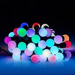 Atnep Fancy RGB LED Rice Lights String LADI Festival Decoration (28 LEDs Bulb) Type 1