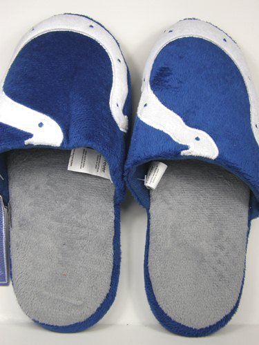 Cheap Indianapolis Colts 2011 Big Logo Two Tone Hard Sole Slippers (B006KYQP3Q)