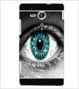 PrintDhaba Blue Eye D-1289 Back Case Cover for SONY XPERIA SP (Multi-Coloured)