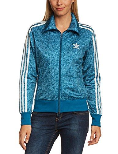 """Adidas - Felpa da donna """"Firebird"""", Blu (Tribe Blue S14/Running White), 40"""
