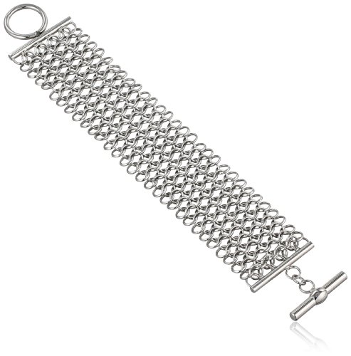 Women's Stainless Steel Mesh Bracelet, 7″