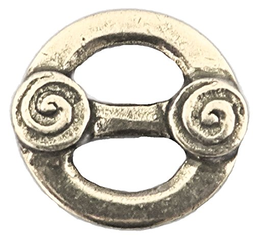 "Small Håndstøpte Knapper - Heavy Pewter Button or Finishing Piece 9/16"" - 15MM"