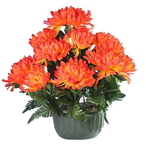 Ligne d co 461200wo o fiori artificiali per cimitero - Crisantemi in vaso ...