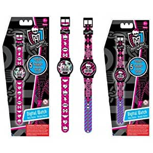 Amazon.com: le Bracelet Montre Monster High Quartz Digital 5 Fonctions