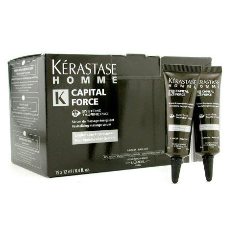ケラスターゼ オムキャピタルフォースリバイタライジングマッサージリンスーアウトセラム 15x12ml 0.4oz並行輸入品