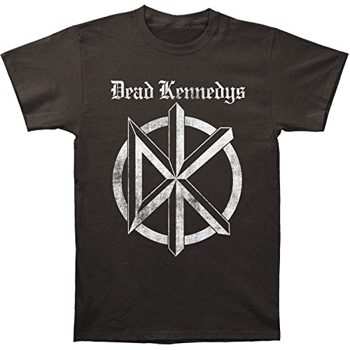Dead Kennedys Distressed Old English Logo Print Men's Cotton Shirt - Medium