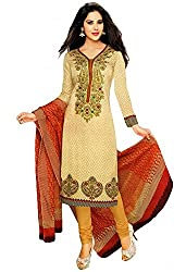 Yamunesh Creation Women's Cotton Unstitched Dress Material (YC-DM-105_Multicolor_Free size)