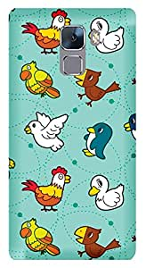 WOW Printed Designer Mobile Case Back Cover For Huawei Honor 7