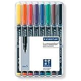 Lumocolor Permanent Superfine Marker 0.4mm 8 Color Set