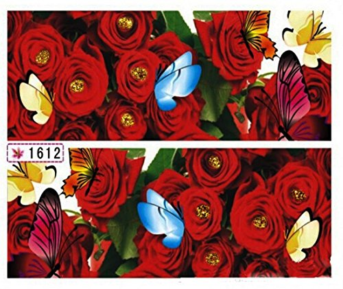 1-Sheet-Elegant-Flowers-3D-Painting-Foils-Glitter-Self-Adhesive-Nail-Art-Stickers-Color-Code20