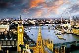 London, England - Photography Poster (Big Ben, Thames & The London Eye) (Size: 36