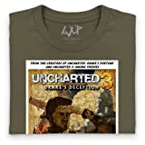 Official Uncharted 3: Drake's Deception Organic T Shirt - Poster, Mens