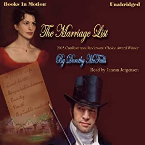 The Marriage List Audiobook