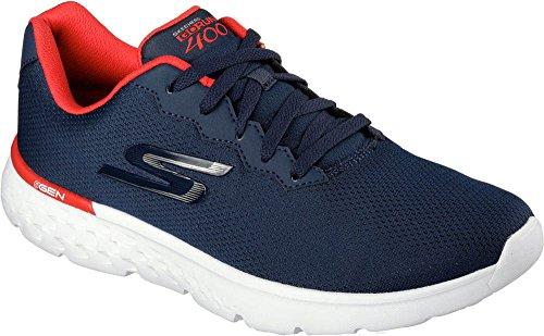 Skechers Performance Men's Go Run 400 Running Shoe, Navy/Red, 13 M US