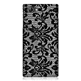 Head Case Designs Damask Black Lace Hard Back Cover Case for Sony Xperia J ST26i