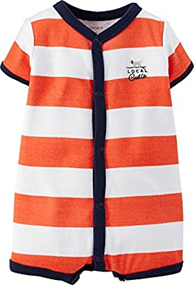Carter's Baby Boys' 1-piece Appliqué Snap-Up Romper