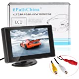 4.3 inch Foldable Car LCD TFT Rearview Monitor Screen