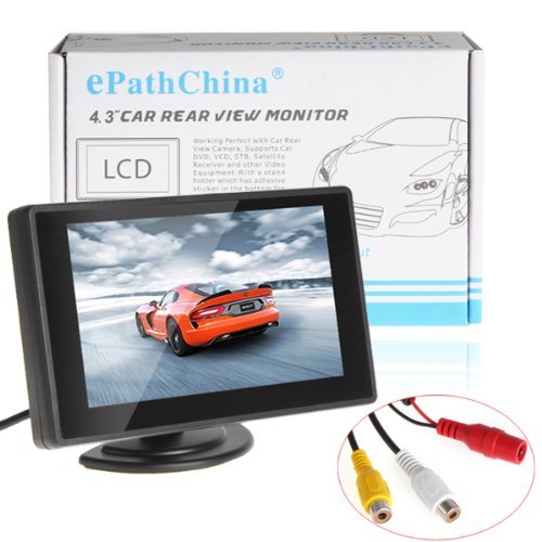 4.3 Inch Digital Tft Lcd Color Display 2 Video Input Car Rear View Monitor Mini Dvd Vcr Car Monitor With Reversing Camera Support Car Dvd Vcd Stb Satellite Receiver And Other Video Equipment