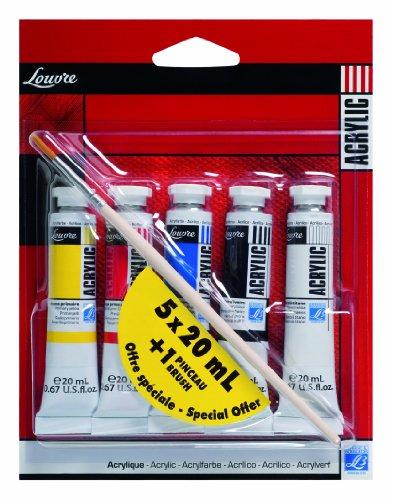 lefranc-bourgeois-louvre-pack-de-5-tubes-de-peintures-acryliques-20-ml