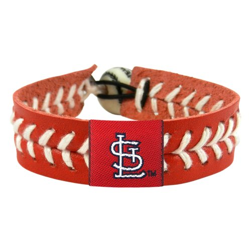 MLB St. Louis Cardinals Team Color Baseball Bracelet at Amazon.com