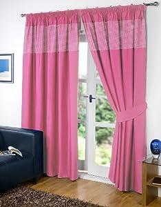 rose 117 x 183 cm motif vichy rideaux occultants. Black Bedroom Furniture Sets. Home Design Ideas