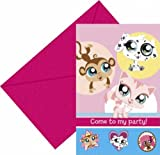The Littlest Pet Shop Party Invitations 6pk