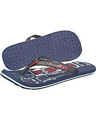 Puma Men's Kongo II Ind. Blue, White And High Risk Red Flip Flops Thong Sandals - 7 UK
