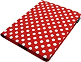 Lente Designs® Red and white polka dot iPad 2, 3 or 4 protective case with magnetic smart cover auto on/off feature
