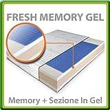 Fresh Memory Gel, colchón de Látex y Memory GEL, plaza individual 80x190 cm, con Tejido silver en fibra de Plata...