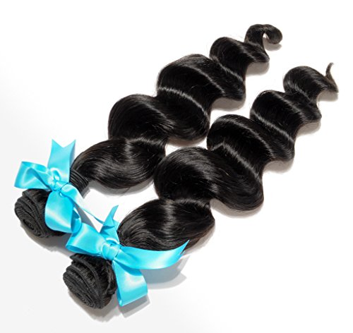 Danolsmann-Hair-100-Remy-Virgin-Brazilian-Loose-Wave-Human-Hair-Weave-Hair-Extentions-2-Bundles-12-30-200g-Natural-Black-Color