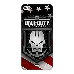 Stylish Duty Calling Back Case Cover for Micromax Canvas Silver 5