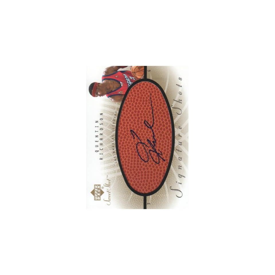 2002 03 Upper Deck Sweet Shot Basketball Signature Shots #QR Quentin Richardson Los Angeles Clippers NBA Autograph Trading Card